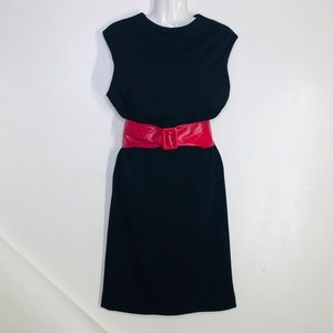 ADRIENNE VITTADINI Black classic midi Dress